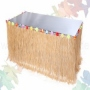 Hawaii raffia table border