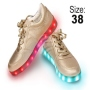 LED Shoes color gold Size 38