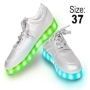 LED Shoes color silver Size 37