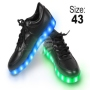 LED Shoes color black Size 43