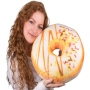 Donut pillows White glaze, colorful sprinkles