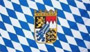 Flag Bavaria with coats of arms