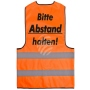 Safety vest orange with print model WW-14a