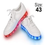 LED Shoes color white Size 43