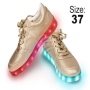 LED Shoes color gold Size 37