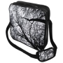 Messenger Bag Motif Branches white black/white