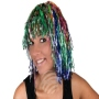 Lametta Wig Bob rainbow colors