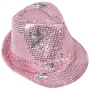 Trilby hat with stars rose