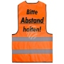 Safety vest orange with print model WW-15a