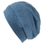 Knitted cap Long Beanie Slouch uni colors blue
