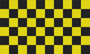 Flag Checkered black yellow
