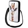Messenger Bag Courier bag Giraffe white/brown