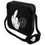 Messenger Bag Motif Middle finger black/white