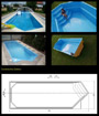 Swimming pool GFK model Esperanza 10,00x3,50x1,55m