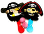 Paddle Ball game pirates Design 22cm