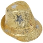 Trilby hat with stars yellow