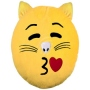 Cat Emoticon Pillows little kiss yellow