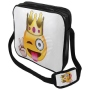 Messenger Bag Motiv Emoticon King weiß/gelb