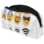 Pencil Case, Feather sleeve Design Emoticon Wifi