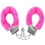 Handcuffs with plush Hot pink