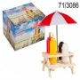 Spice holder wood Picnic table II with beach umbrella