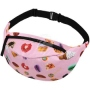 Fanny pack Hipbag Candies and cats pink