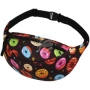 Fanny pack Hipbag Donuts and stars black