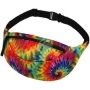 Fanny pack Hipbag Batik pattern rainbow color