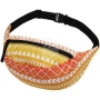 Fanny pack Hipbag Aztec pattern yellow