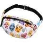 Fanny pack Hipbag Emoticons white
