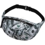 Fanny pack Hipbag 100 dollars white