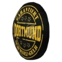 Motive pillow Dortmund round black/yellow