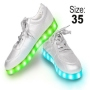 LED Shoes color silver Size 35