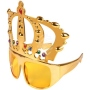 Party Glasses Funglasses Crown gold with stones